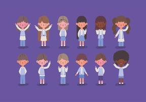 youth kids set vector