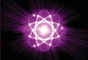 Shining atom scheme. Vector illustration.