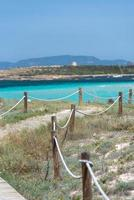 Ses Illetes beach in Formentera, Balearic Islands in Spain. photo