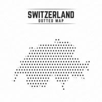 Dotted Map of Switzerland vector