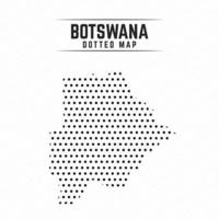 Dotted Map of Botswana vector