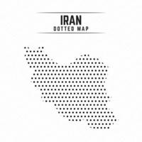 Dotted Map of Iran vector