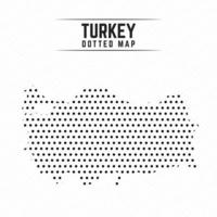 Dotted Map of Turkey vector