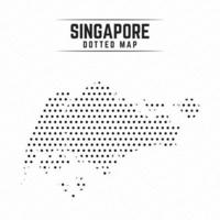 Dotted Map of Singapore vector