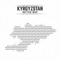 Dotted Map of Kyrgyzstan vector