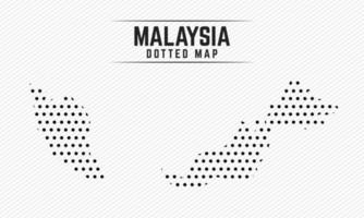 Dotted Map of Malaysia vector