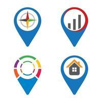 Pointer logo template vector icon