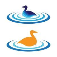 Duck logo images illustration vector