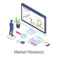 Market Research and Analysis vector