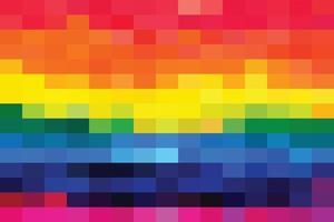 Rainbow mosaic background vector