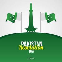 Pakistan resolution day banner celebration vector
