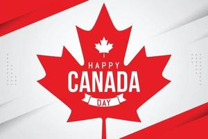 Happy canada day celebration banner template vector