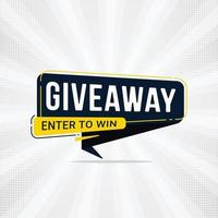 Giveaway and enter to win banner sign design template vector