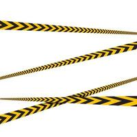Warning Line police vector design