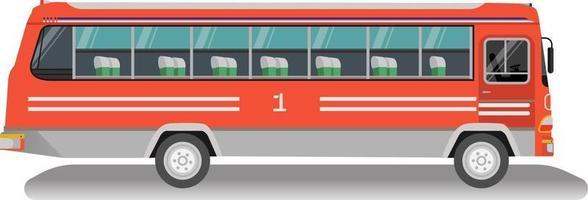 Vintage Thai bus with isolated white background.Old omnibus thai.Thai bus vector.Classic public car thailand. vector