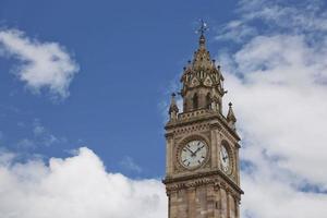 Belfast Clock tower in Belfast, Northern Ireland photo