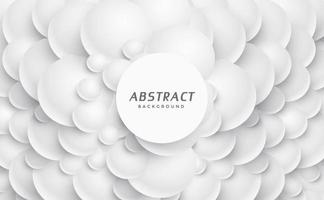 White geometric background 3d circles illustration Abstract creative texture for business template Modern and simple radial pattern vector