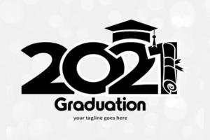 Class 2021. simple black and white concept vector