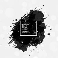 Vector black paint ink brush stroke brush line or texture Texture artistic design element box frame or background for text