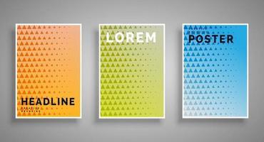 conjunto de carteles abstractos mínimos cubre la colección de plantillas con elementos de formas geométricas gráficas aplicables para folletos, portadas de carteles y pancartas ilustraciones vectoriales vector