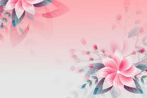 Beautiful flower abstract background flowers in bloom on a soft pink background vector