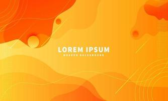 Abstract yellow and orange fluid shape modern background vector