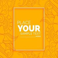 pattern festival card with text space vector