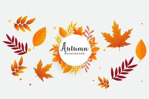 Autumn background with leaves Can be used for poster banner flyer invitation website or greeting card Vector illustration