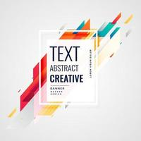 creative bright colors abstract background vector