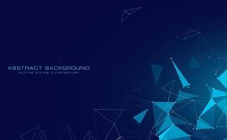 Fondo de tecnología digital con triángulos flotantes. vector