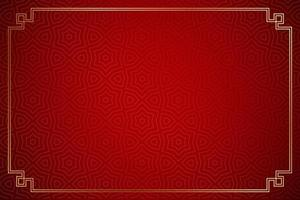 red background and gold window frames for your text happy Chinese New Year vector