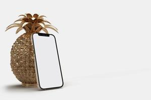 Smartphone with decorative object photo