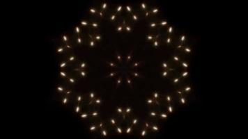 boucle de 4k de kaléidoscope léger de formes de cristal de neige video