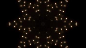 clignotant neige cristal formes lumière kaléidoscope boucle 4k video