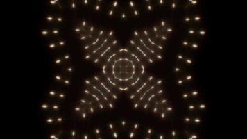 boucle de lumières kaléidoscope à quatre fleurs clignotantes 4k video