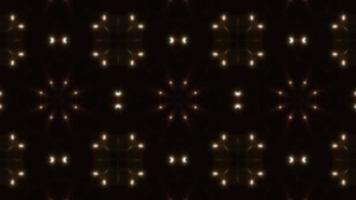 Clignotant trois points lumineux répartis en boucle de kaléidoscope 4k video