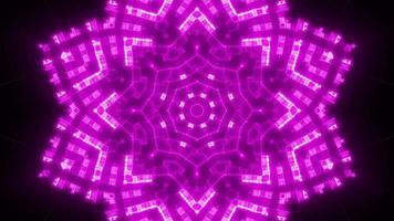 snabb blinkande neonstjärna ljus bakgrund video