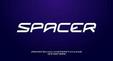 Fuente de san serif en cursiva futurista y moderna adecuada para titulares, pancartas, carteles, folletos, logotipos, monogramas vector