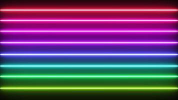 lasers au néon arc-en-ciel en cours d'exécution video