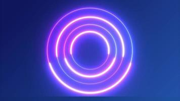fond de cercle néon pour le concept technologique video