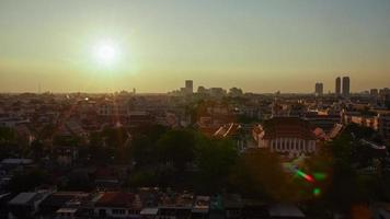 Time lapse sunset view from Golden Mount Temple at Bangkok, Thailand. video