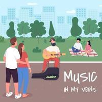 Music in my veins social media post mockup vector