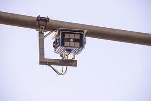 camera for electronic gate placed in the pedestrian area photo