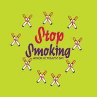 Ilustración vectorial de un fondo para el día mundial sin tabaco vector