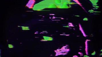 Abstract Glitch Flickering Television video