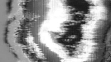 Black and White VHS Abstract Distortion video