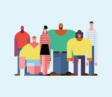 diversity people group vector
