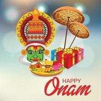 Vector illustration of a celebration background for Happy Onam