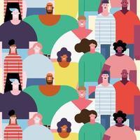 diversity people crowd vector