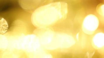 Twinkling Golden Light Leaks and Bokeh video